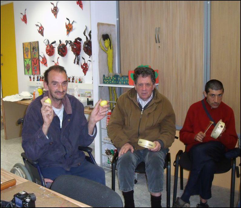 Musicoterapia en discapacidad motriz: Asociación Asprom 2012