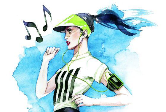 Entrenar con música aumenta el rendimiento físico